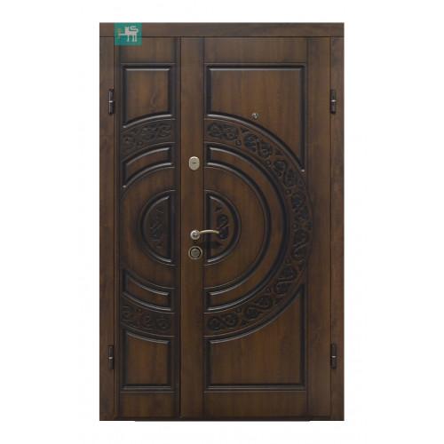 Двери ПВ-82 полуторные Дуб темный Vinorit (Патина) Министерство дверей