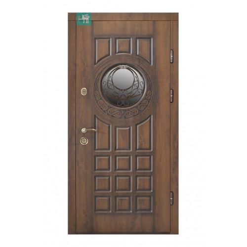 Двери ПВ-192 ковка Дуб темный Vinorit (Патина) Министерство дверей