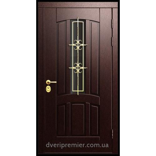 Двери коттеджные Азов с ковкой Премьер