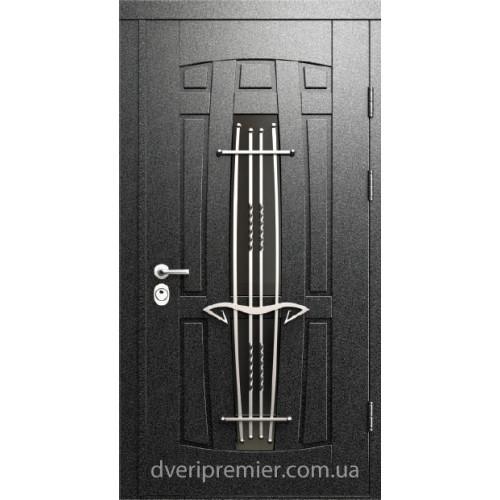 Двери коттеджные Арфа с ковкой Премьер