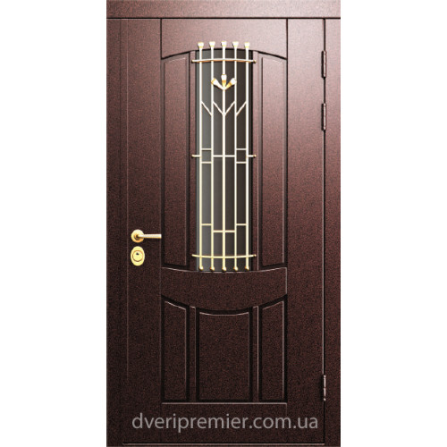Двери коттеджные Арбат с ковкой Премьер