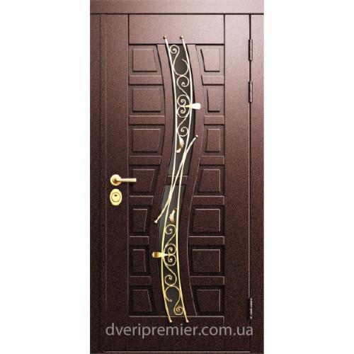 Двери коттеджные Борисфен с ковкой Премьер