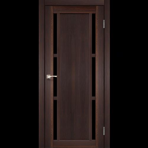 Двери VALENTINO DELUXE - 04 черное стекло KORFAD