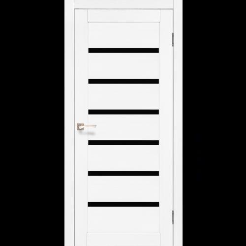 Двери PORTO DELUXE - 01 черное стекло KORFAD