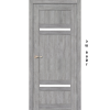 Двери TIVOLI - 03 стекло сатин KORFAD