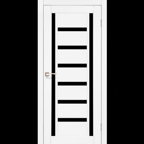 Двери VALENTINO DELUXE - 02 черное стекло KORFAD