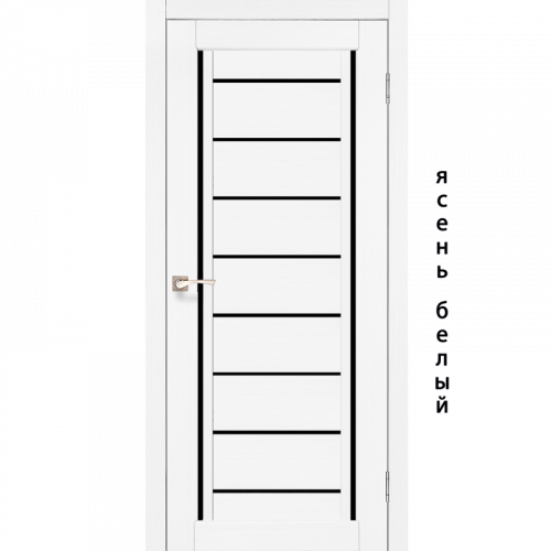 Двери VENECIA DELUXE - 01 черное стекло KORFAD