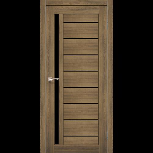 Двери VENECIA DELUXE - 02 черное стекло KORFAD
