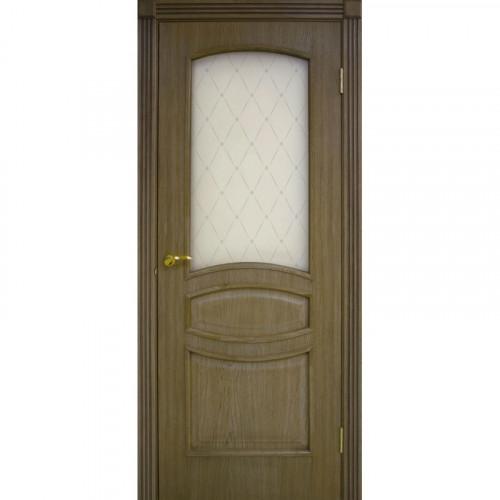 Двери Венеция дуб ретро со стеклом Омис