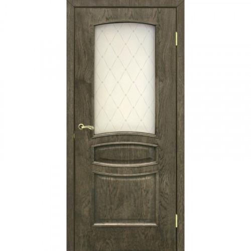 Двери Венеция дуб шервуд со стеклом Омис