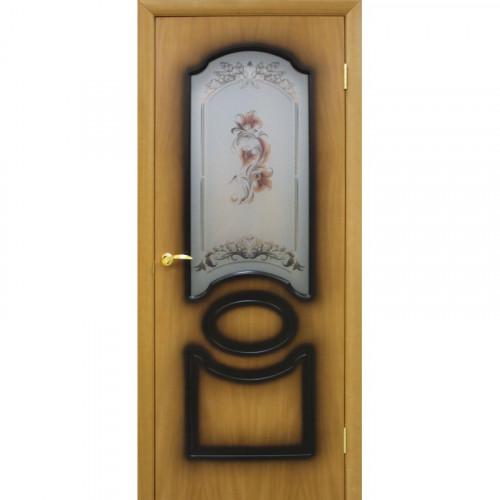 Двери Виктория миланский орех со стеклом Омис